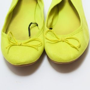 Neon Yellow Canary H&M Fabric Flats Size 36/6